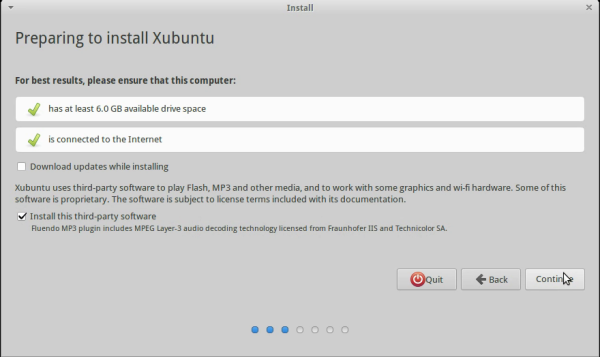 Install this third-party software screen