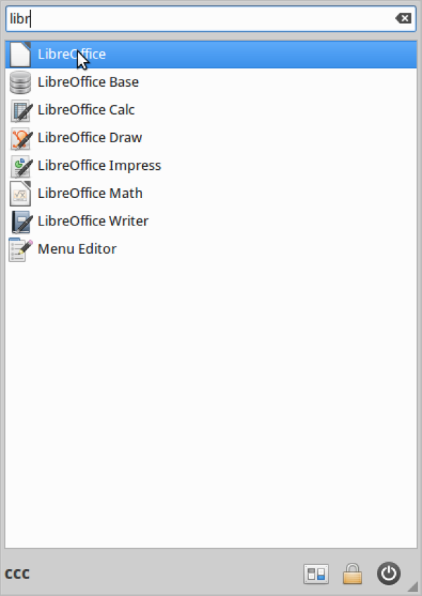 Open Libreoffice